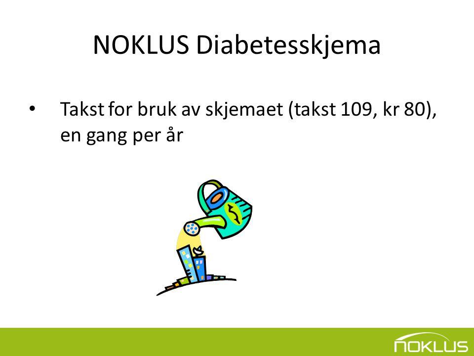 NOKLUS Diabetesskjema