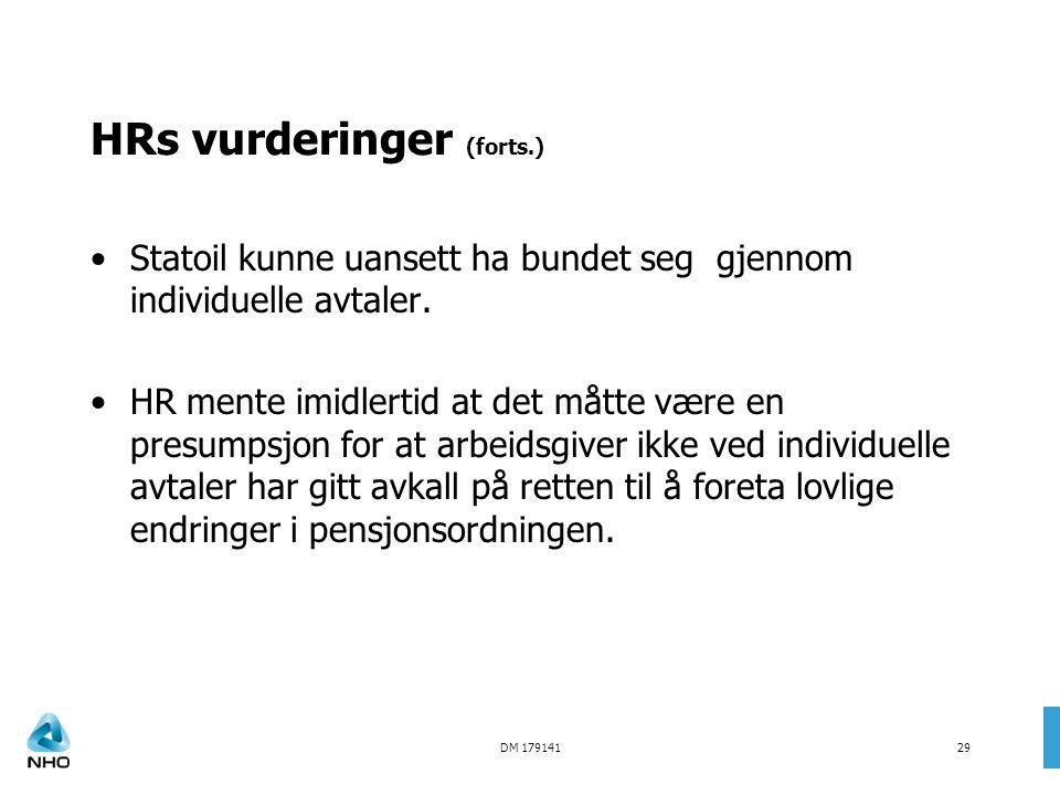 HRs vurderinger (forts.)