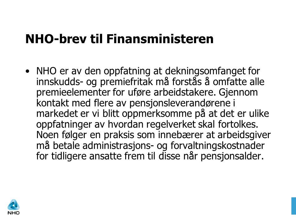 NHO-brev til Finansministeren