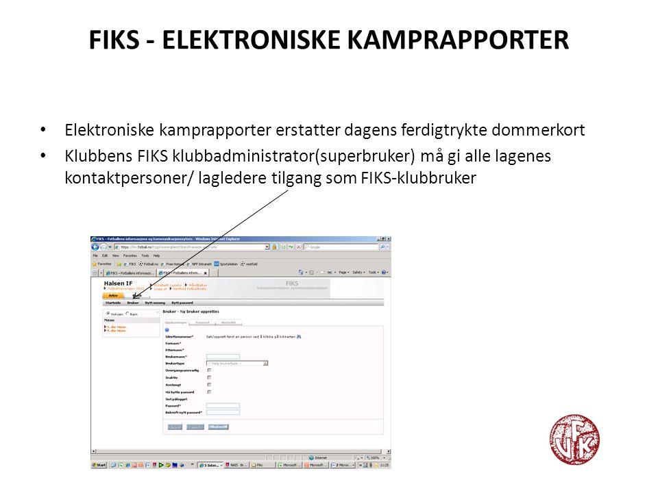 FIKS - ELEKTRONISKE KAMPRAPPORTER