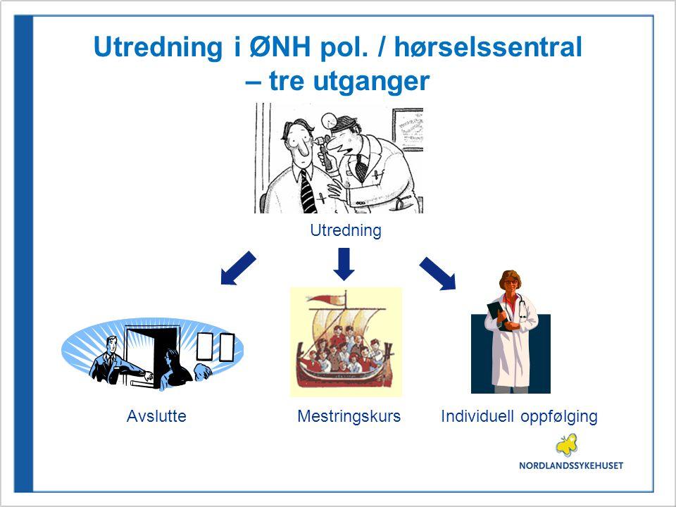 Utredning i ØNH pol. / hørselssentral – tre utganger