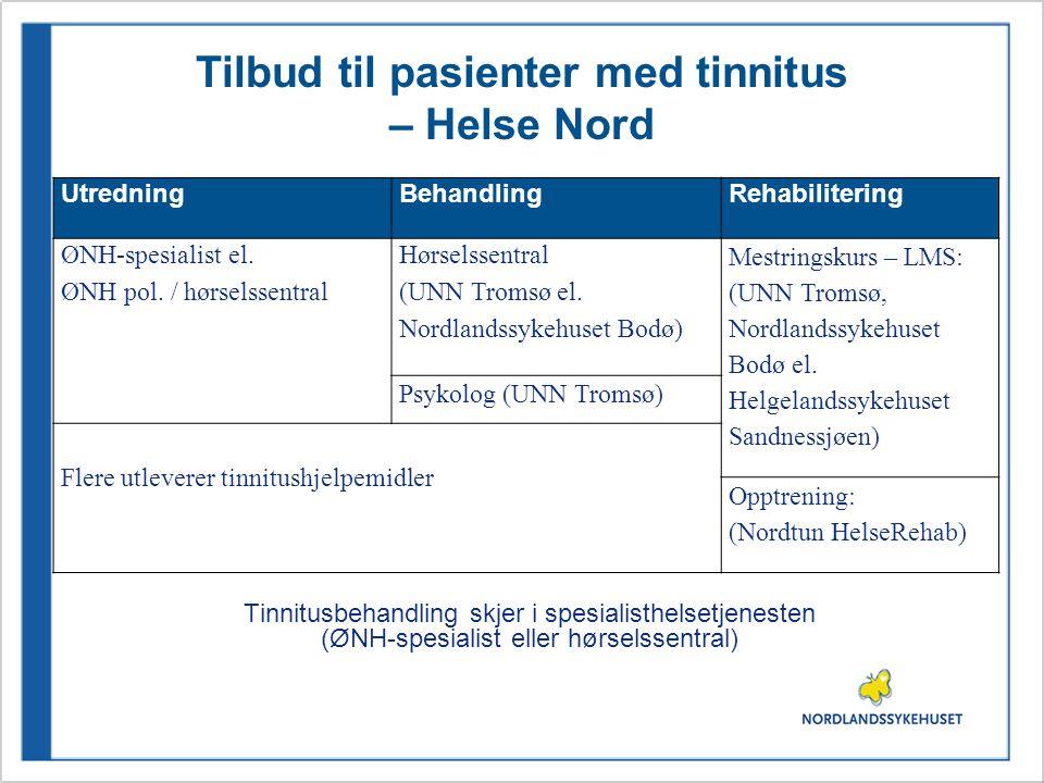 Tilbud til pasienter med tinnitus – Helse Nord