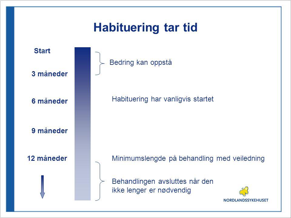 Habituering tar tid Start Bedring kan oppstå 3 måneder