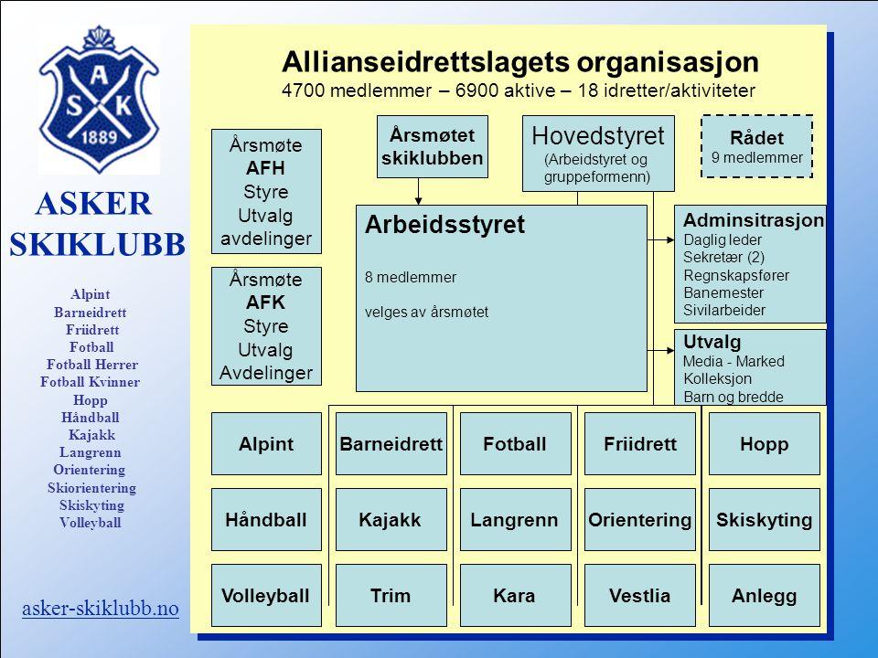 Hovedstyret (Arbeidstyret og gruppeformenn)