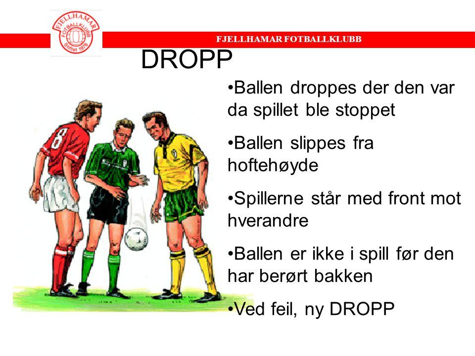 DROPP Ballen droppes der den var da spillet ble stoppet