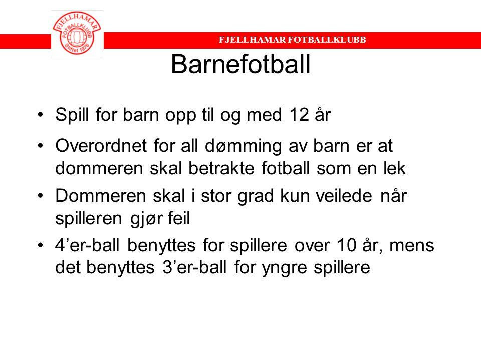 Barnefotball Spill for barn opp til og med 12 år