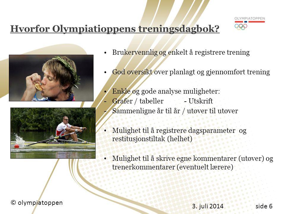 Hvorfor Olympiatioppens treningsdagbok