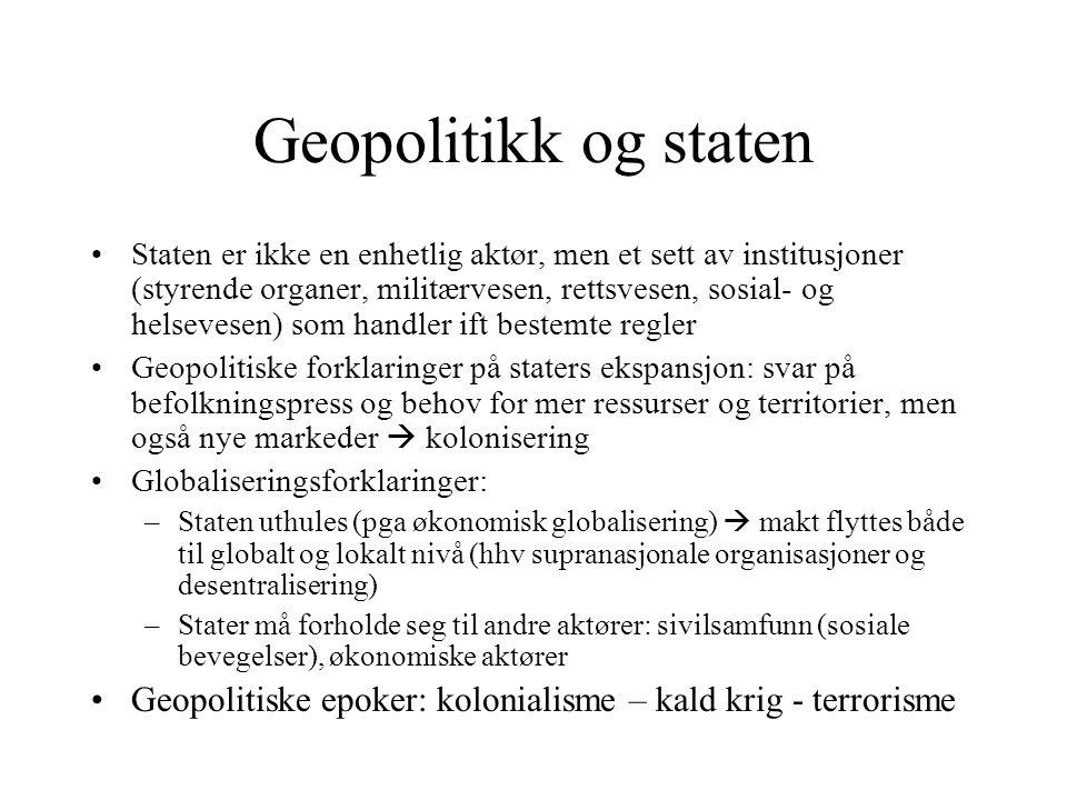 Geopolitikk og staten