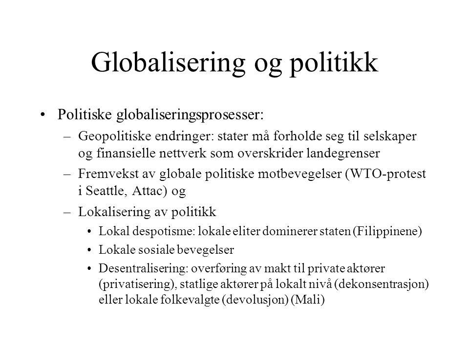 Globalisering og politikk