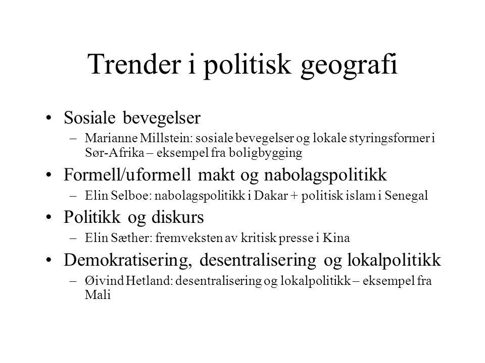 Trender i politisk geografi