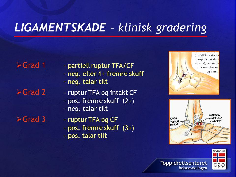LIGAMENTSKADE – klinisk gradering
