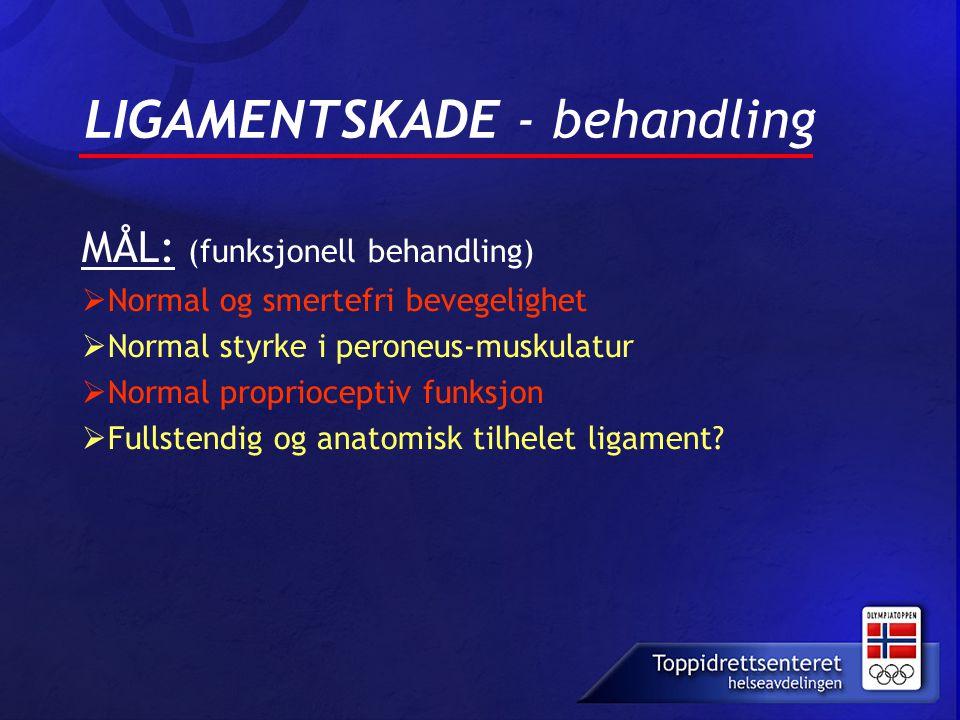 LIGAMENTSKADE - behandling