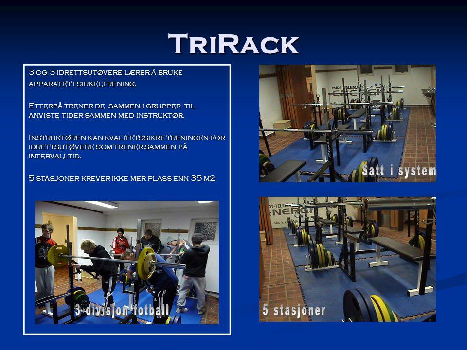 TriRack Satt i system 3 divisjon fotball 5 stasjoner