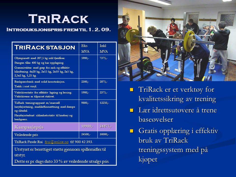 TriRack Introduksjonspris frem til 1. 2. 09.
