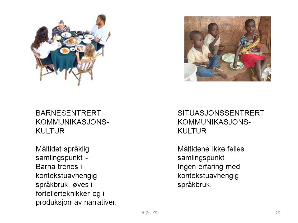 BARNESENTRERT KOMMUNIKASJONS-KULTUR
