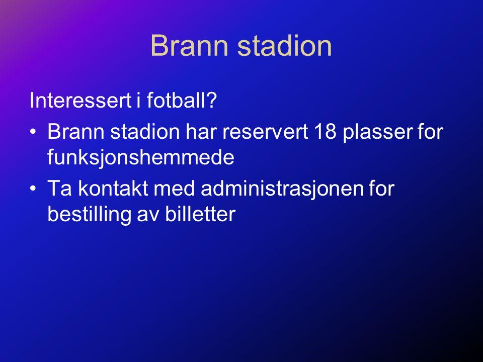 Brann stadion Interessert i fotball