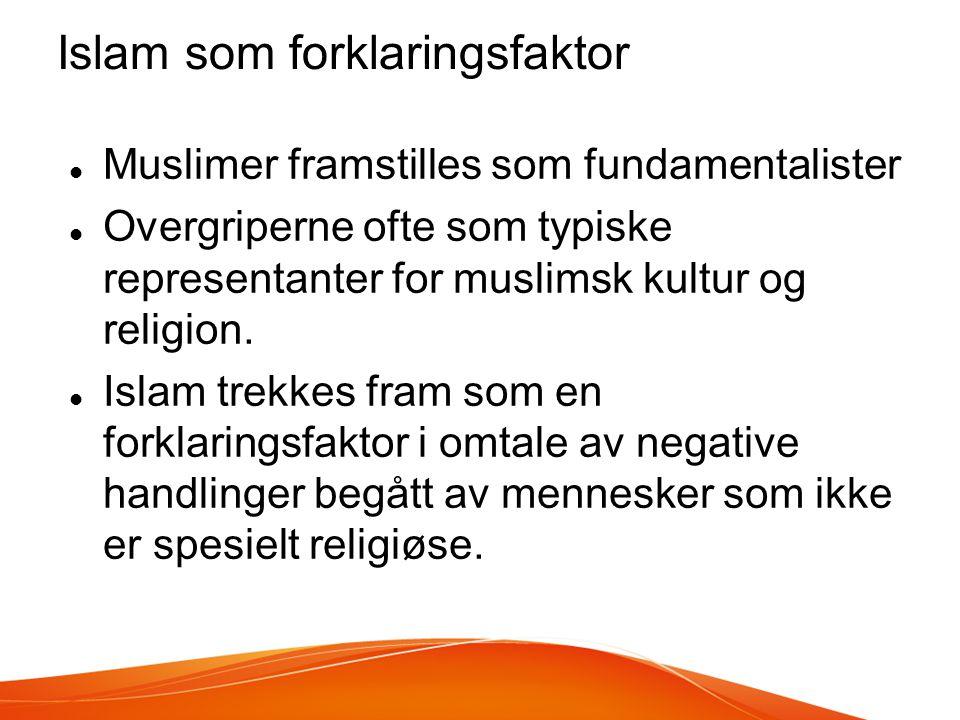 Islam som forklaringsfaktor