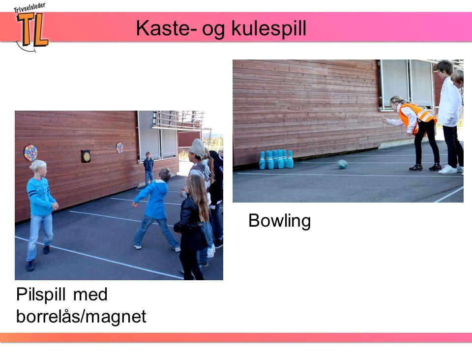 Kaste- og kulespill Bowling Pilspill med borrelås/magnet