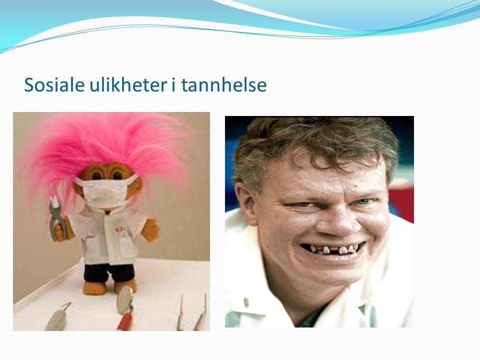 Sosiale ulikheter i tannhelse