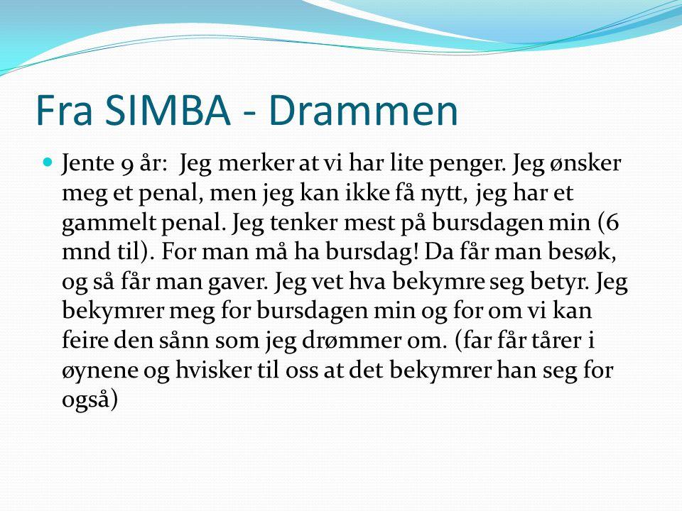 Fra SIMBA - Drammen