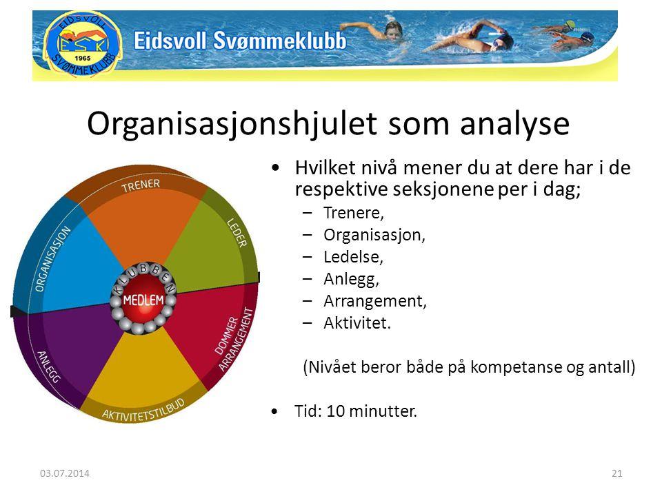 Organisasjonshjulet som analyse