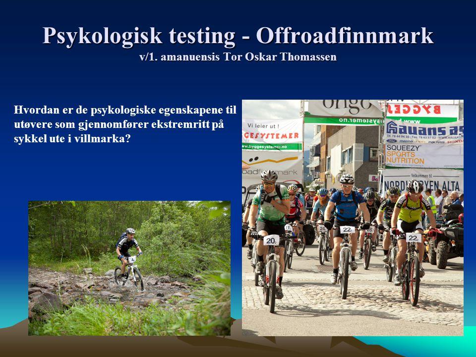 Psykologisk testing - Offroadfinnmark v/1