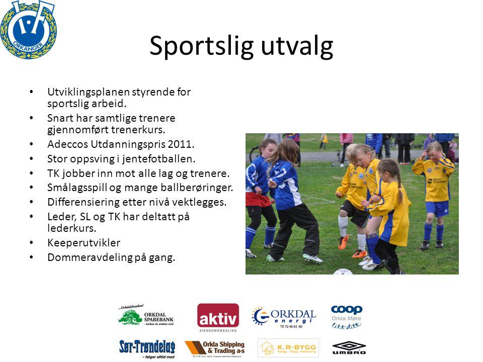 Sportslig utvalg Utviklingsplanen styrende for sportslig arbeid.
