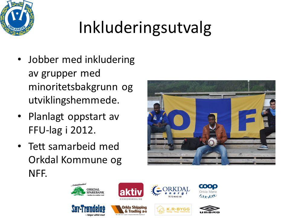 Inkluderingsutvalg Jobber med inkludering av grupper med minoritetsbakgrunn og utviklingshemmede. Planlagt oppstart av FFU-lag i 2012.
