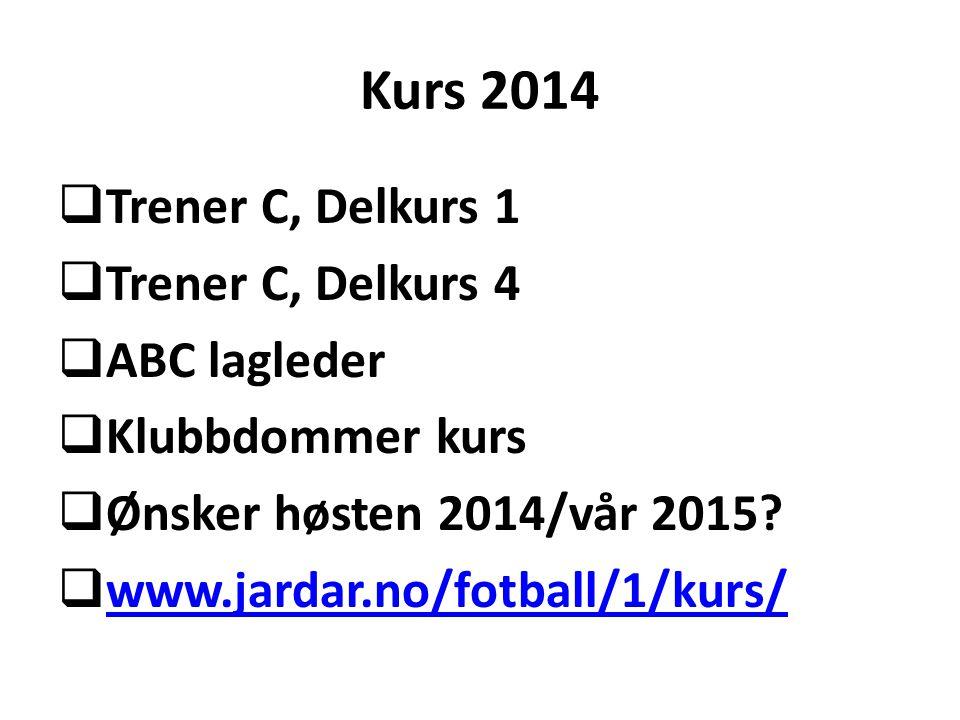 Kurs 2014 Trener C, Delkurs 1 Trener C, Delkurs 4 ABC lagleder