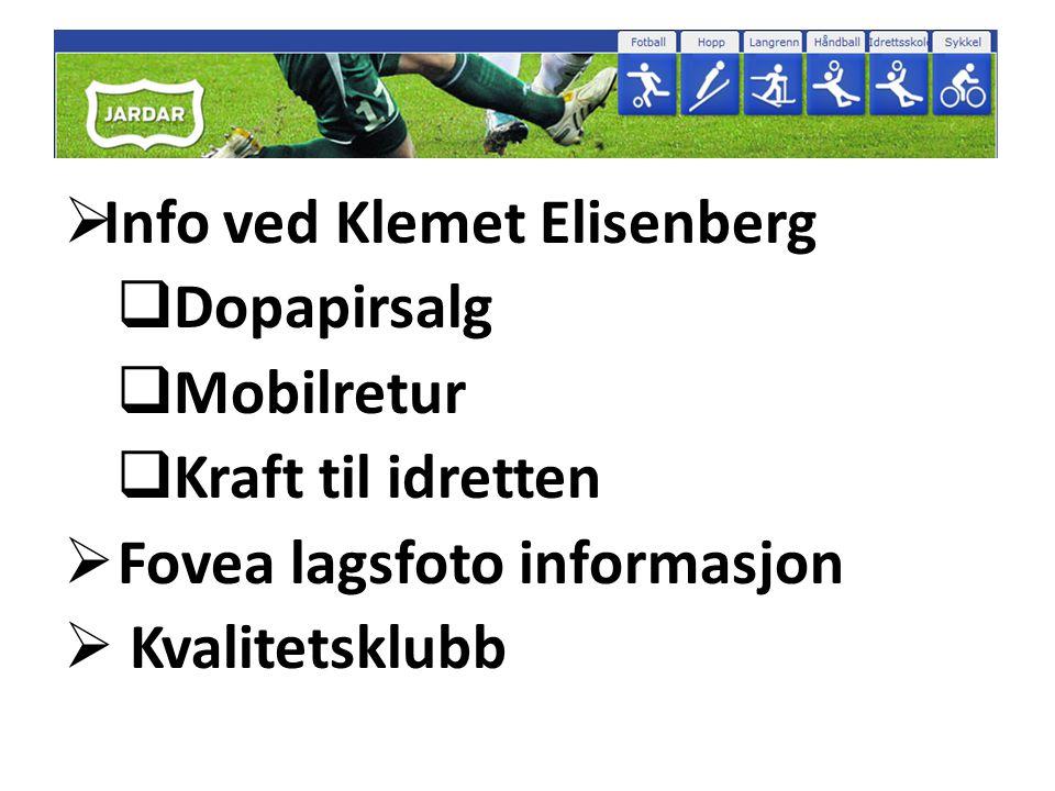 Info ved Klemet Elisenberg