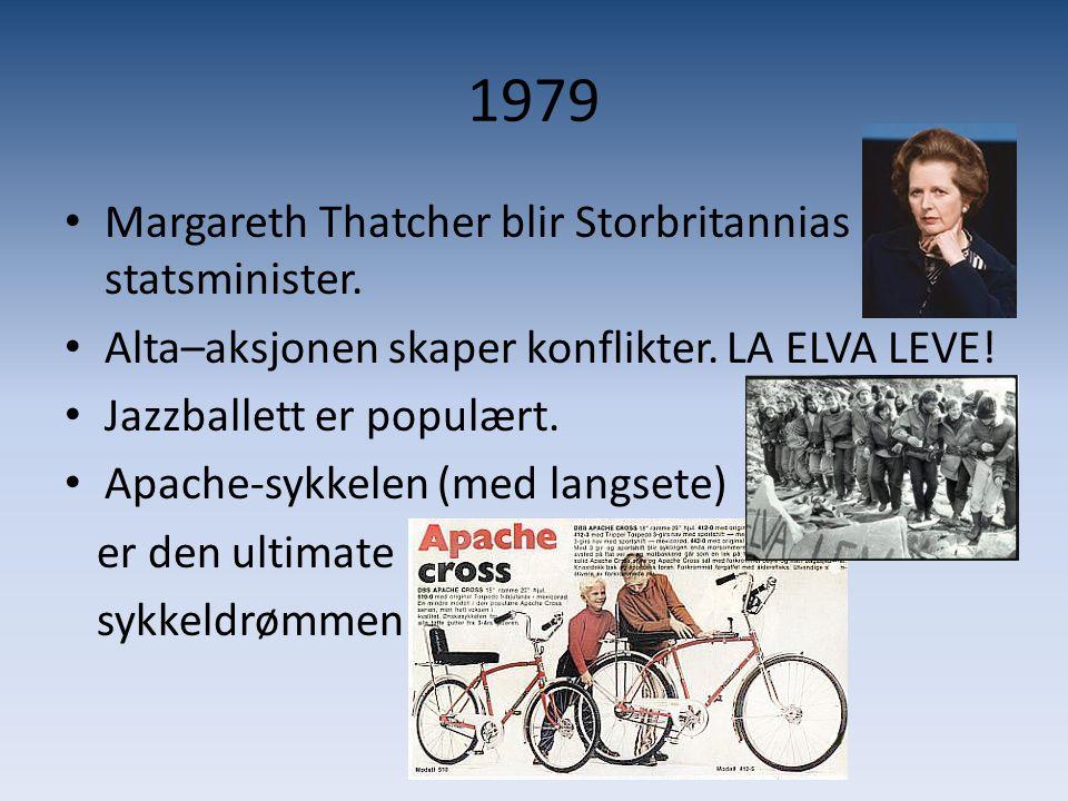 1979 Margareth Thatcher blir Storbritannias statsminister.
