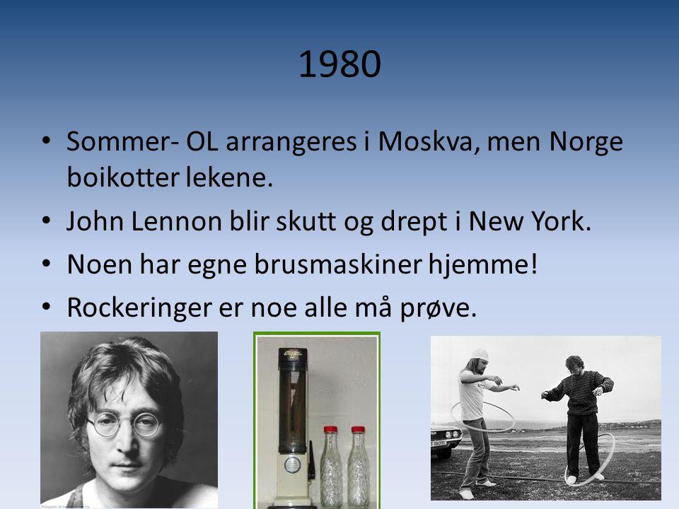 1980 Sommer- OL arrangeres i Moskva, men Norge boikotter lekene.