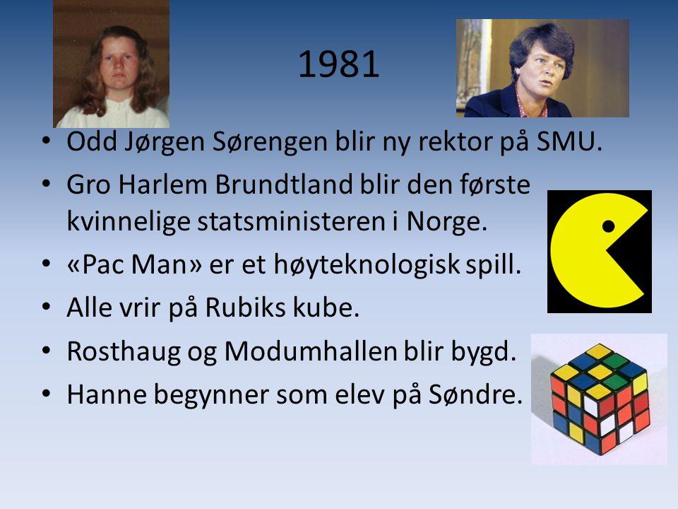1981 Odd Jørgen Sørengen blir ny rektor på SMU.