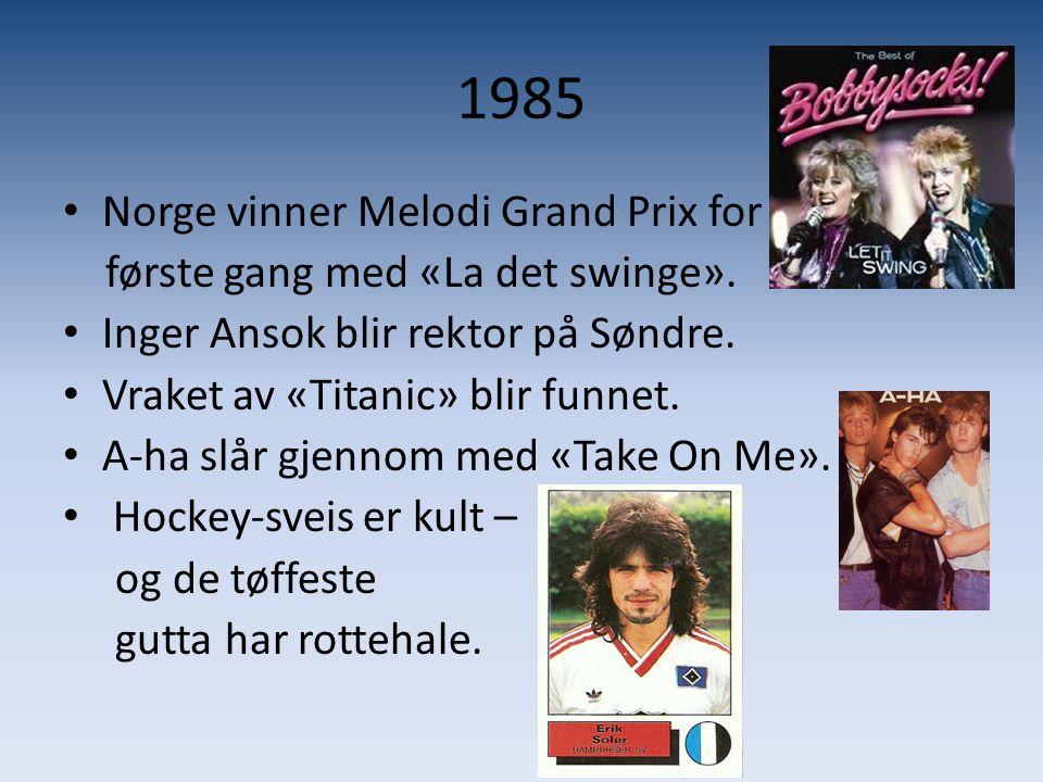 1985 Norge vinner Melodi Grand Prix for