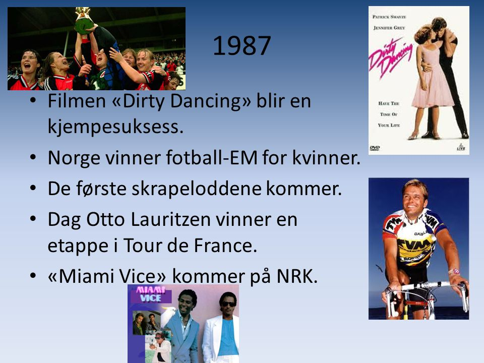 1987 Filmen «Dirty Dancing» blir en kjempesuksess.
