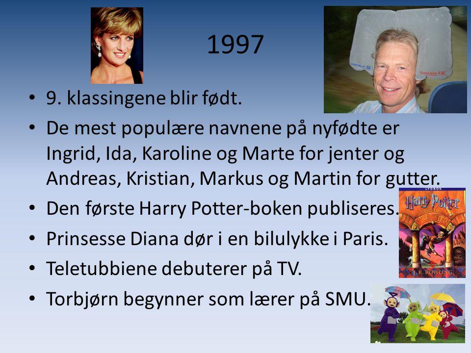 1997 9. klassingene blir født.