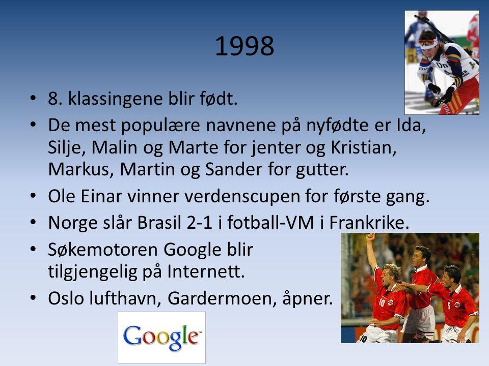 1998 8. klassingene blir født.