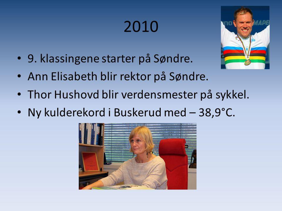 2010 9. klassingene starter på Søndre.