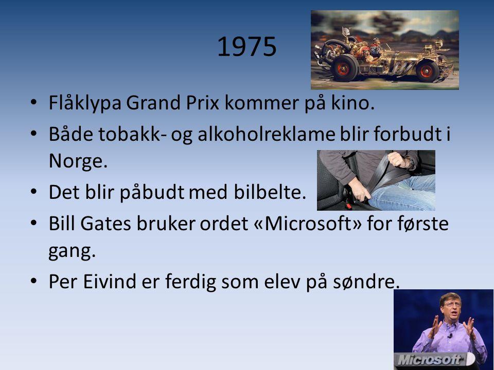 1975 Flåklypa Grand Prix kommer på kino.