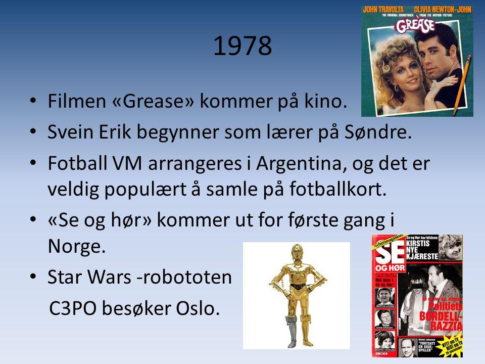 1978 Filmen «Grease» kommer på kino.