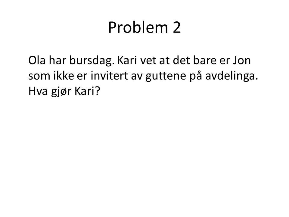 Problem 2 Ola har bursdag.