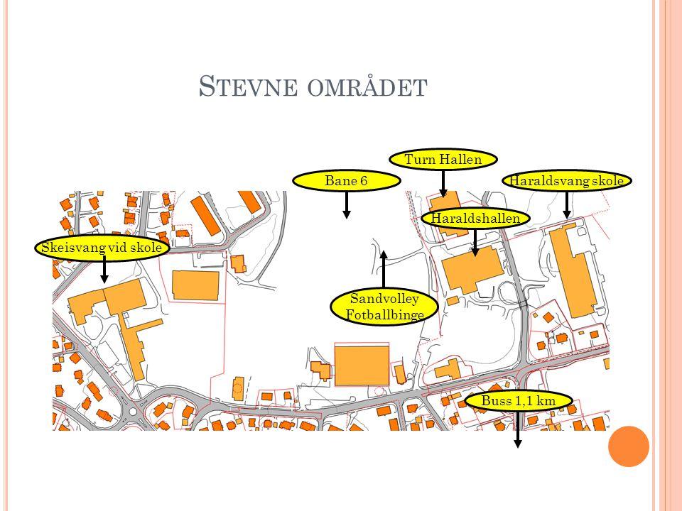 Stevne området Turn Hallen Bane 6 Haraldsvang skole Haraldshallen