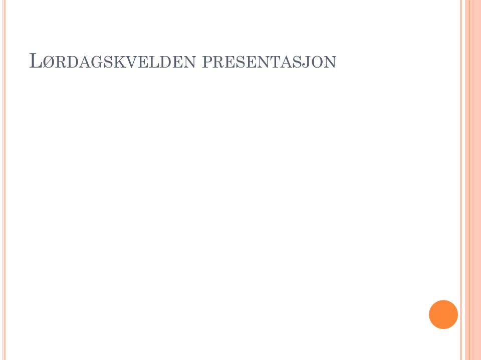Lørdagskvelden presentasjon
