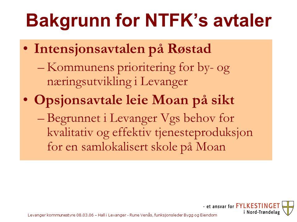 Bakgrunn for NTFK's avtaler