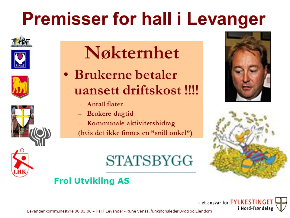 Premisser for hall i Levanger
