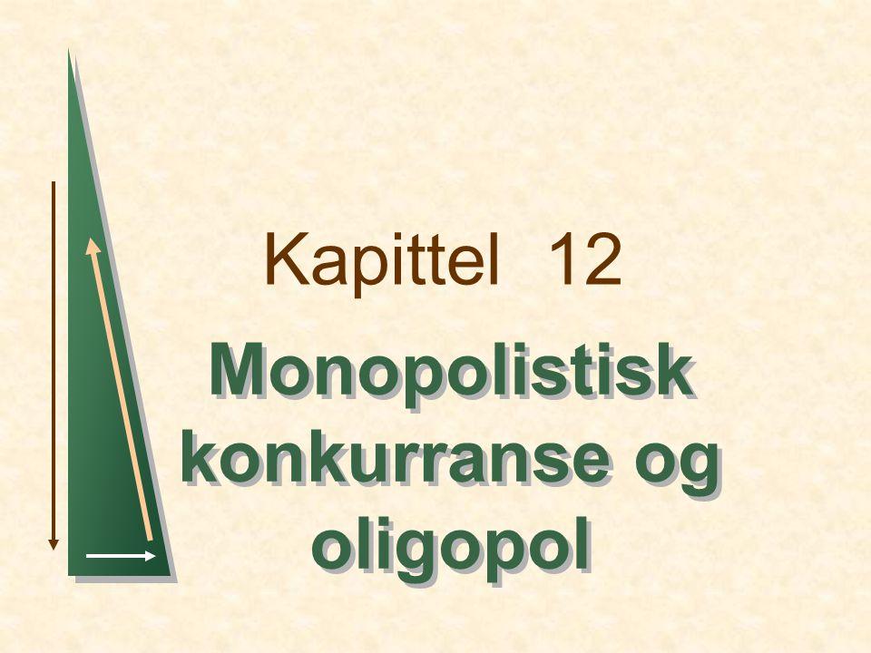 Monopolistisk konkurranse og oligopol