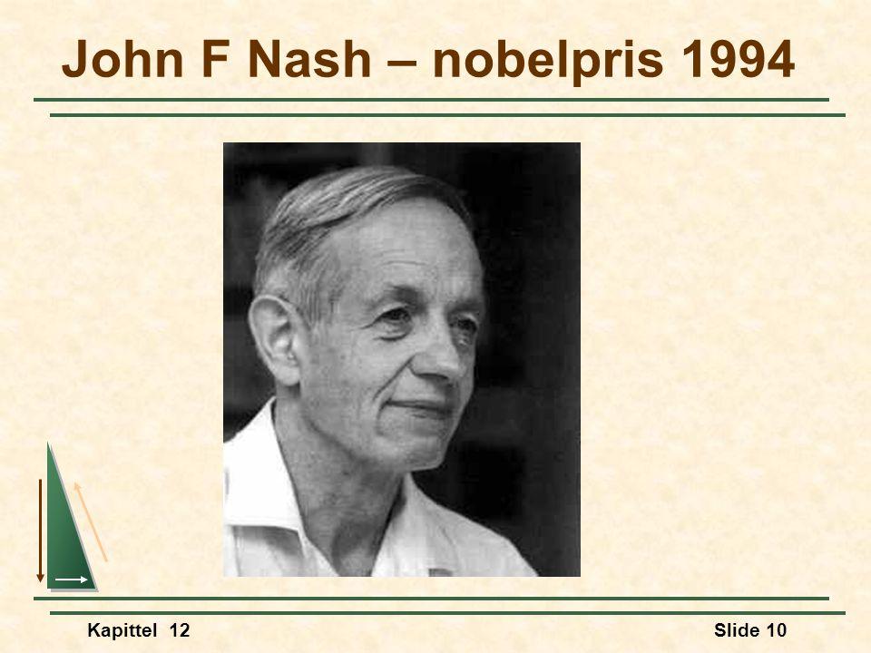 John F Nash – nobelpris 1994 Kapittel 12