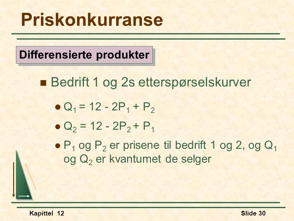 Differensierte produkter