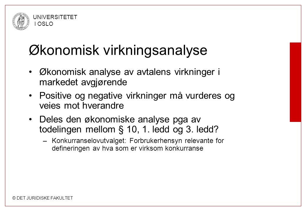 Økonomisk virkningsanalyse