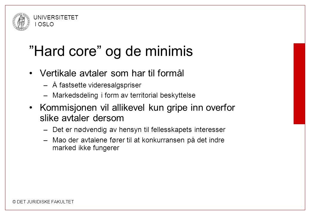 Hard core og de minimis